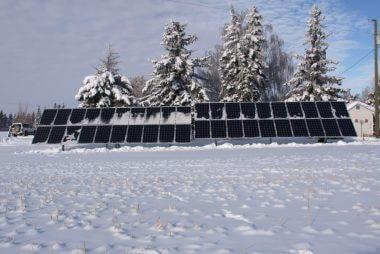16KW solar power system in Strome | Alberta